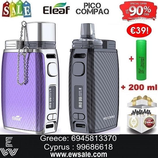 Eleaf iStick Pico Compaq 4mlHλεκτρονικό τσιγάρο +18650 +200ml Υγρά άτμισης