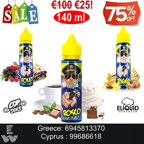 E-liquid France Cop Juice 140 ml Υγρά αναπλήρωσης