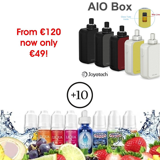 JOYETECH EGO AIO BOX +10x10ml Award Winning E-Liquids / Βραβευμένα Υγρά άτμισης