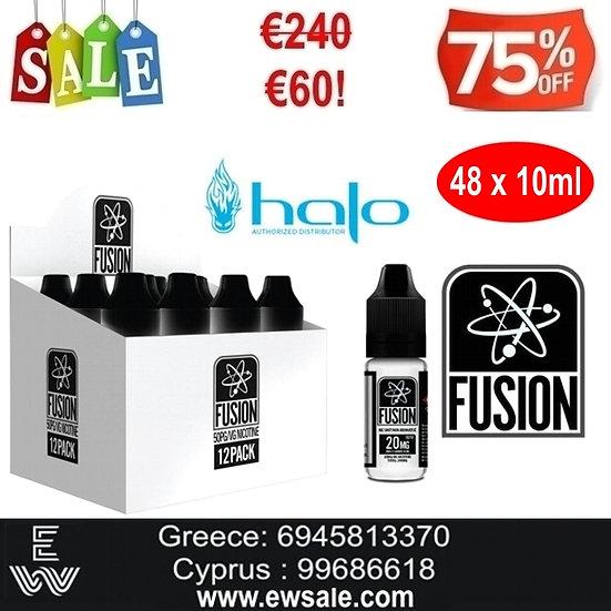 48x10 ml HALO FUSION Booster νικοτίνης - Ατμιστική Βάση νικοτίνης 20mg