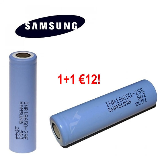1+1 Samsung 18650 Vape Mod Battery - ΜΠΑΤΑΡΙΕΣ ΓΙΑ MODS
