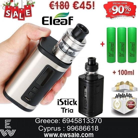 Eleaf iStick Tria ELLO S 300W Hλεκτρονικό τσιγάρο + 3x18650 +100ml Υγρά