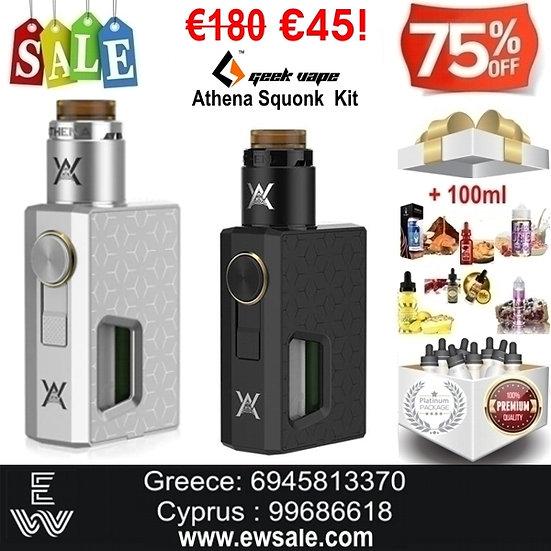 Geekvape Athena Squonk Kit Ηλεκτρονικά Τσιγάρα + 100 ml Υγρά άτμισης