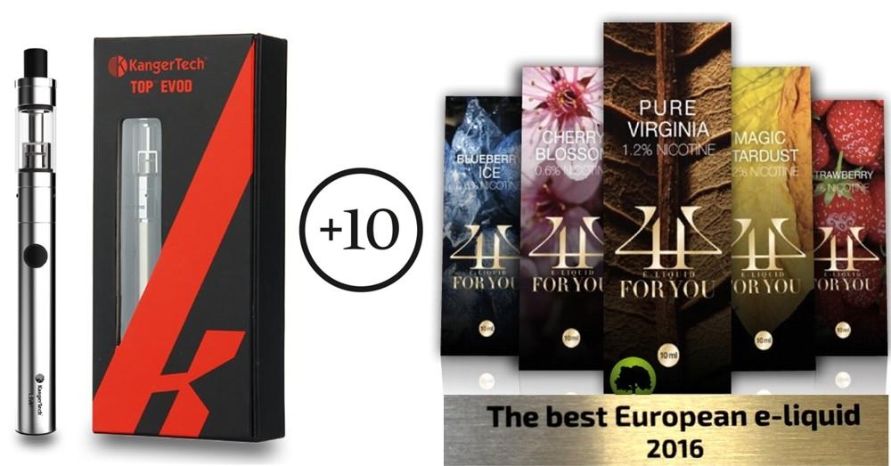 Kanger Top Evod + 10 4U-Award Winning E-Liquids