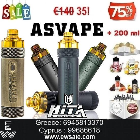 Asvape Hita Kit Ηλεκτρονικό Τσιγάρο + 200 ml Υγρά Αναπλήρωσης, άτμισης