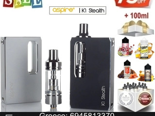 Aspire K1 Stealth Kit + 100 ml Υγρά άτμισης μόνο €25!