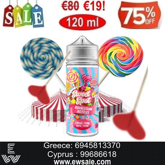 120 ml Sweet Spot BUBBLEGUM Υγρά αναπλήρωσης