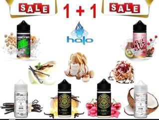 1+1 100 ml Halo Gourmet Γεύσεις Υγρά άτμισης €19!