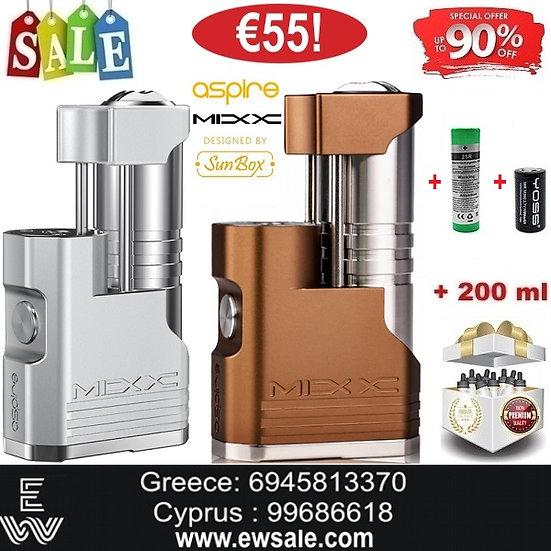 Aspire X Sunbox MIXX Modηλεκτρονικού τσιγάρου +18650 +18350 +200ml Υγρά άτμισης