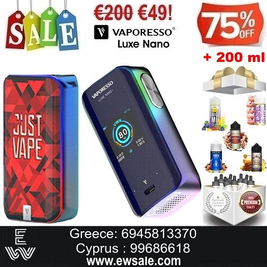 Vaporesso Luxe Nano 80W Mod αφής ηλεκτρονικού τσιγάρου + 200ml Υγρά άτμισης