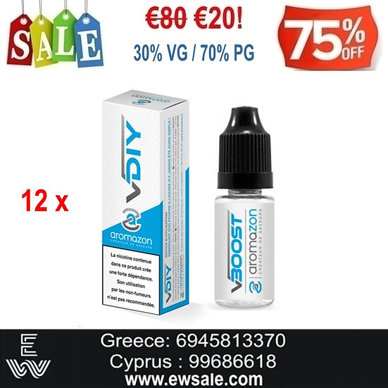 12x10 ml High PG Aromazon Booster Ατμιστικής νικοτίνης