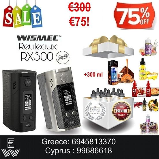 Wismec Reuleaux RX300 TC Battery Mod Ηλεκτρονικά Τσιγάρα + 300ml Υγρά άτμισης