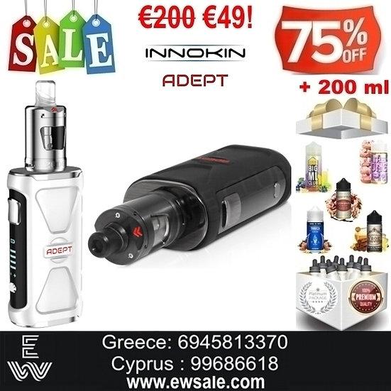Innokin Adept Zlide Kit Ηλεκτρονικά Τσιγάρα + 200ml Υγρά άτμισης