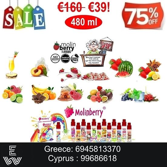 480 ml Γεύσεις Φρούτα Molinberry M-line Υγρά άτμισης