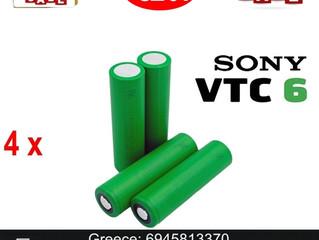 4 x Sony US 18650 VTC6 ΜΠΑΤΑΡΙΕΣ ΓΙΑ MODS €20!