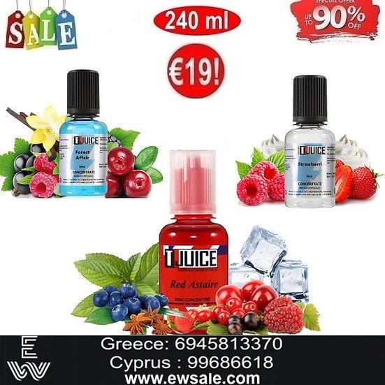 240 ml T-Juice DIY Υγρά αναπλήρωσης