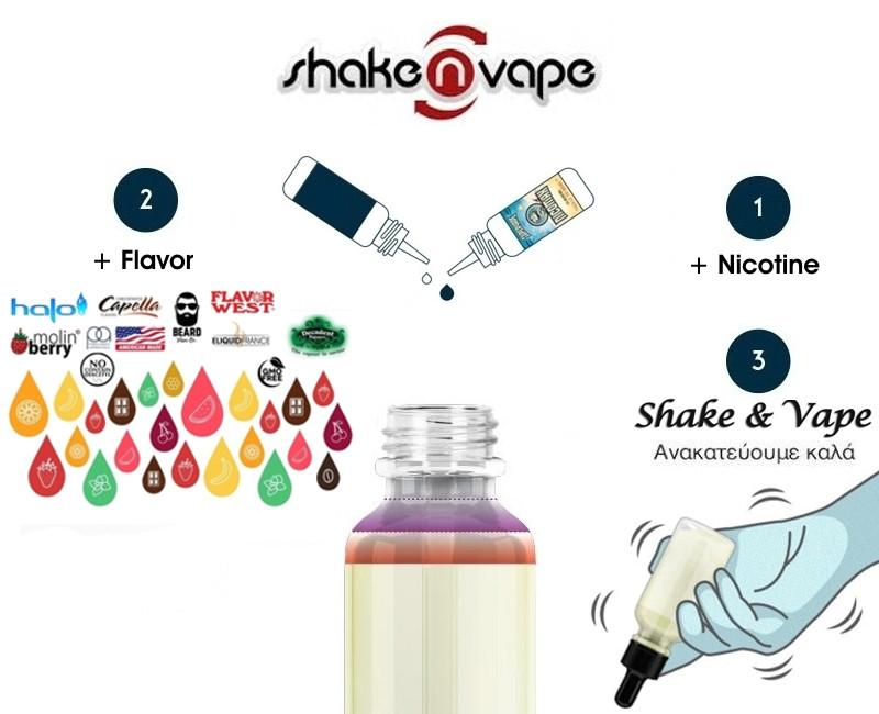 Shake & Vape DIY Υγρά Αναπλήρωσης, άτμισης.