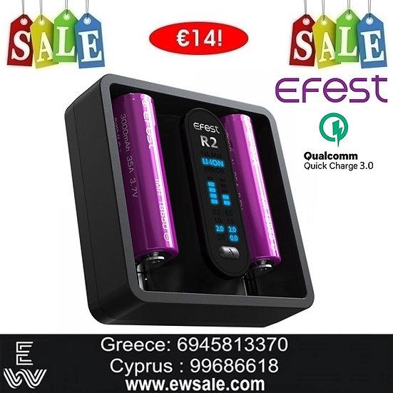 Efest iMate R2 Intelligent QC Charger φορτιστής μπαταριών ηλεκτρονικών τσιγάρων