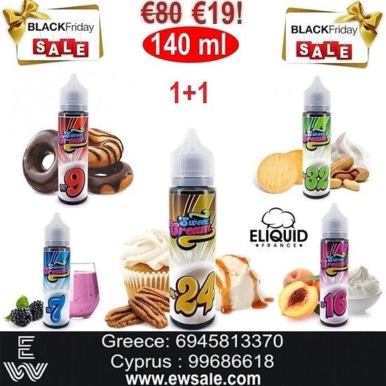 1+1 (140 ml) E-liquid France Sweet Cream Υγρά αναπλήρωσης