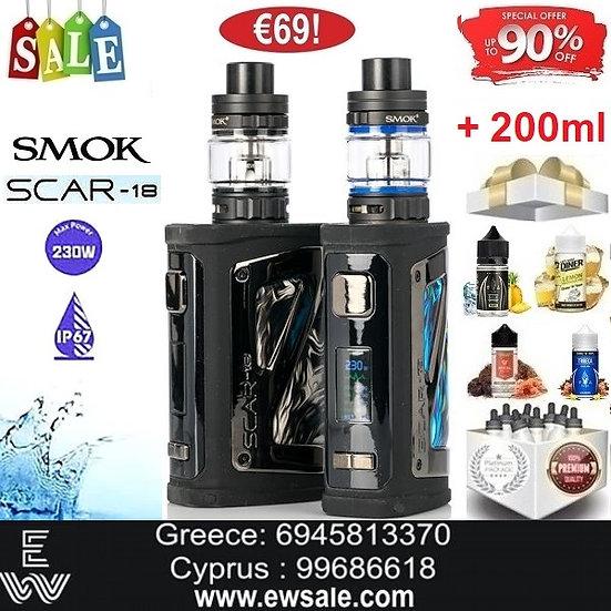 Smok Scar 18 230W 6.5ml Kit Ηλεκτρονικά Τσιγάρα +200ml Υγρά άτμισης