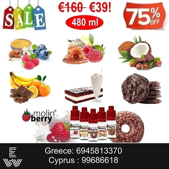480 ml Γεύσεις Gourmet Molinberry M-line Υγρά άτμισης