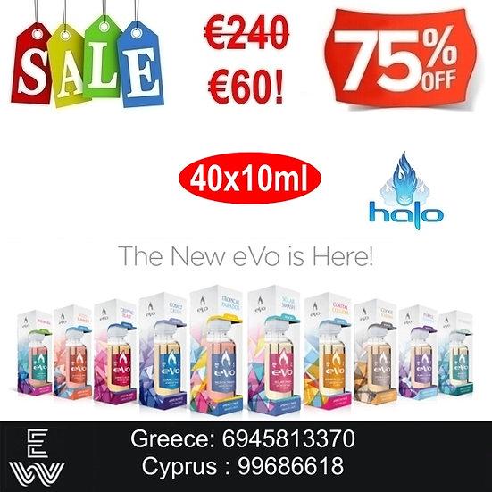 40x10 (400 ml) Halo Evo Platinum Sample Box Υγρά Αναπλήρωσης