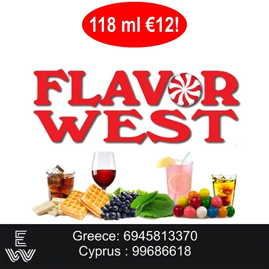 118 ml Flavor West Αρώματα DIY υγρων αναπληρωσης