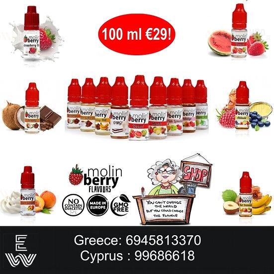 100 ml Molinberry M-line Αρώματα DIY υγρων αναπληρωσης