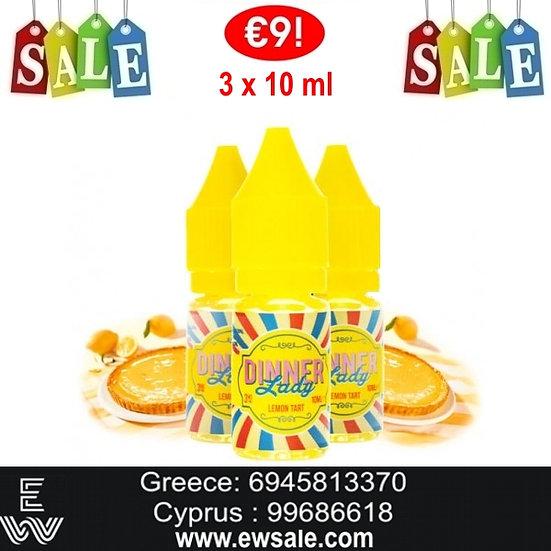 30 (3x10) ml Dinner Lady Lemon Tart. Υγρά Αναπλήρωσης, άτμισης