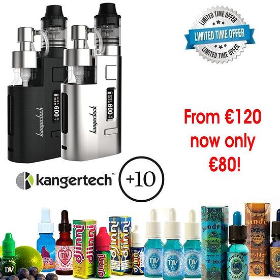 Kangertech Dripez Kit+10x10ml Award Winning E-Liquids/Βραβευμένα Υγρά άτμισης