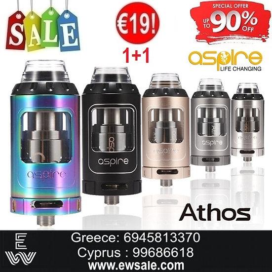 1+1 (2) ASPIRE Athos Tank ατμοποιητής ηλεκτρονικού τσιγάρου