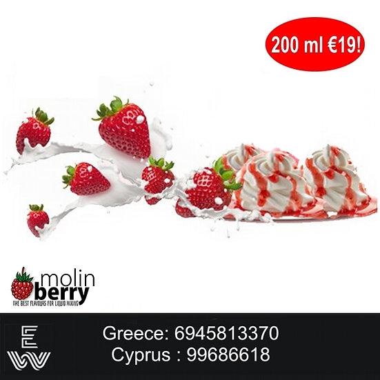 200 ml Strawberry Milk Molinberry M-line DIY Υγρά άτμισης
