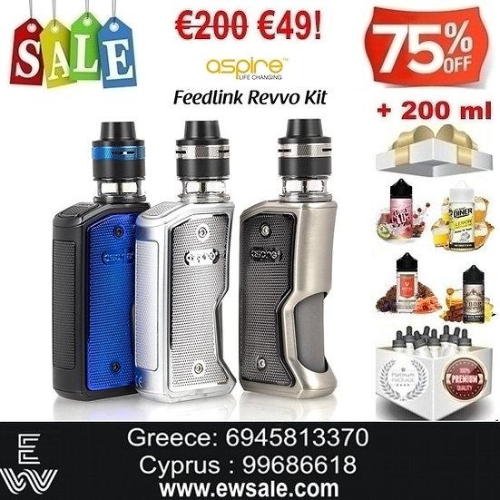 Aspire Feedlink Revvo Squonk Kit Ηλεκτρονικά Τσιγάρα + 200 ml Υγρά άτμισ