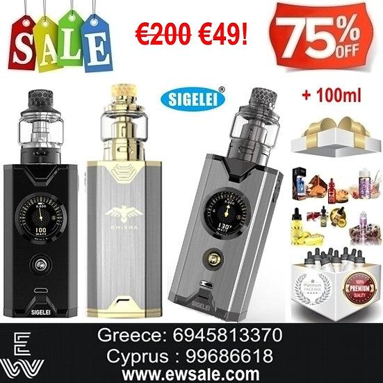 Sigelei Chronus Shikra 200W Kit Ηλεκτρονικό Τσιγάρο + 100ml Υγρά άτμισης