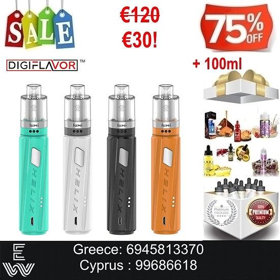 Digiflavor Helix Kit Hλεκτρονικό τσιγάρο + 100 ml Υγρά Αναπλήρωσης, άτμισης