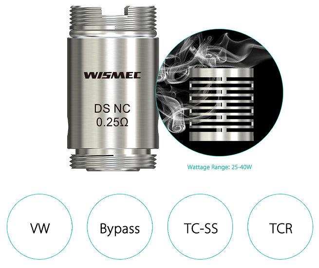 Wismec DS Dual head - 0.25ohm - 5pc κεφαλές αντίστασης