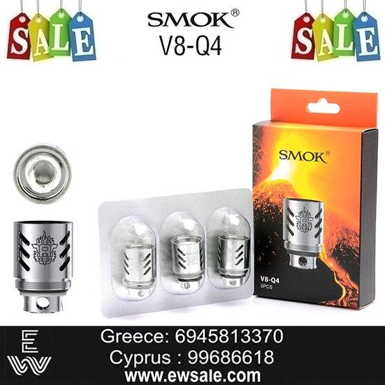 3 x Smok SMOK TFV8 Coil - Q4 0.15ohm αντιστάσεις