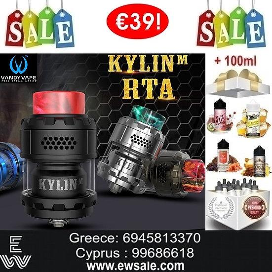Vandy Vape Kylin M RTA επισκευάσιμος ατμοποιητής+ 100ml Υγρά άτμισης