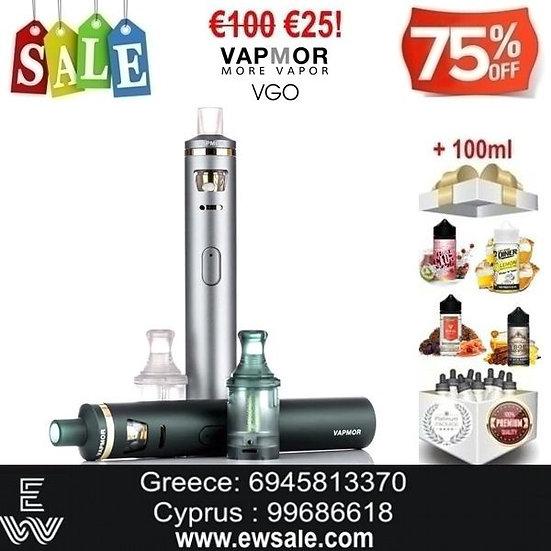 Vapmor VGO Kit Ηλεκτρονικά Τσιγάρα + 100ml Υγρά άτμισης