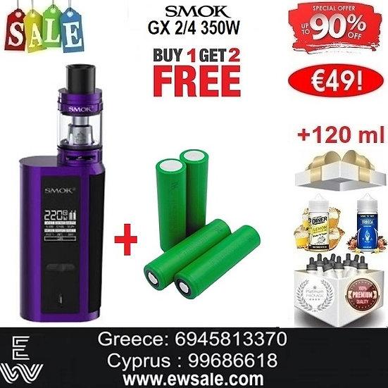 Smok GX 2/4 350W Kit E-Τσιγάρα + 4 x 18650 + 120 ml Υγρά άτμισης