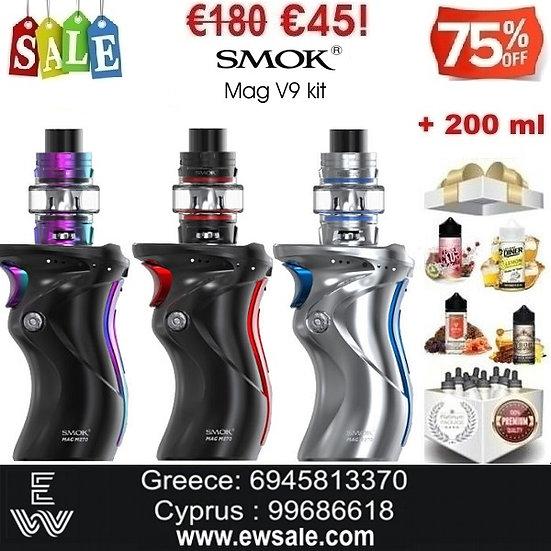 Smok Mag V9 5ml Kit Hλεκτρονικό τσιγάρο + 200 ml Υγρά Αναπλήρωσης