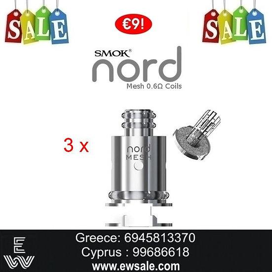 3 x Smok Nord Ανταλλακτικές κεφαλές - αντιστάσεις Nord,RPM, Fetch