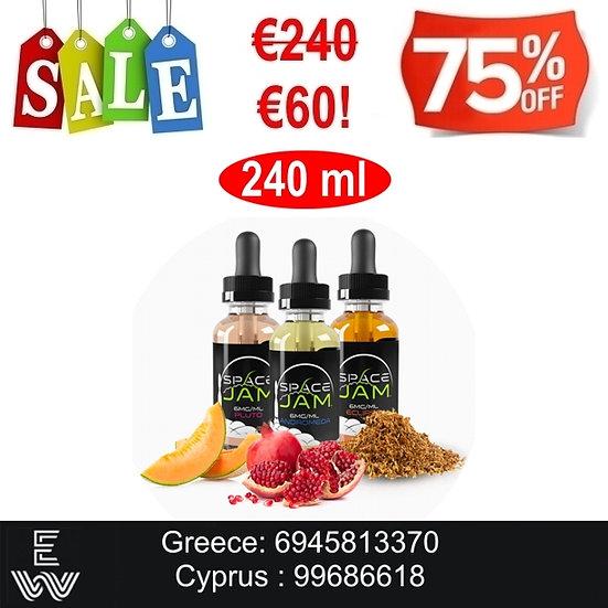 240 ml Space Jam Vape e-juice - Υγρά Αναπλήρωσης, άτμισης
