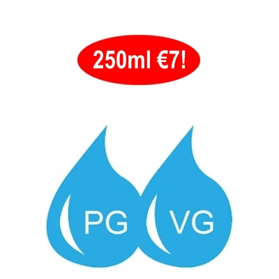 250 ml Ατμιστική Βάση νικοτίνης DIY / Unflavoured E-liquid Base