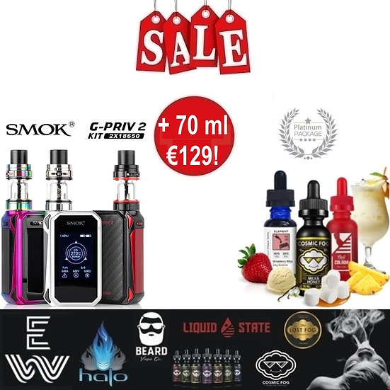 SMOK G-Priv2 230w Touch Screen + TFV8 X Baby + 70 ml