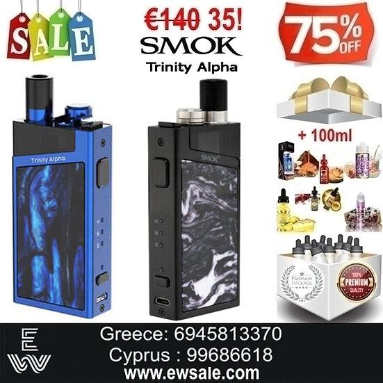 SMOK Trinity Alpha Kit  Ηλεκτρονικά Τσιγάρα + 100 ml Δημοφιλή Υγρά άτμισης