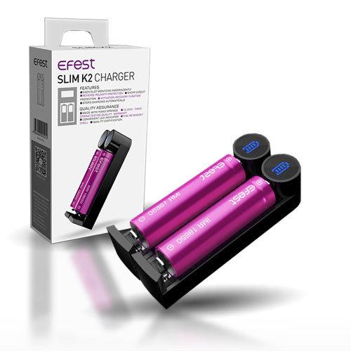 Efest Slim K2 Charger USB Charger φορτιστής μπαταριών για Ηλεκτρονικά Τσιγάρα