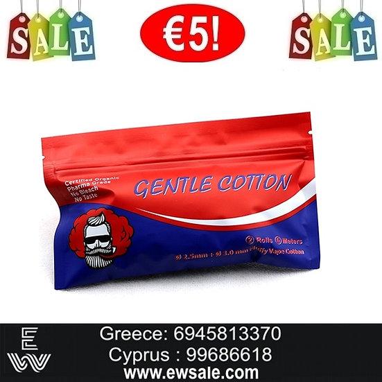 2 rolls 6m Vivismoke Gentle Cotton βαμβάκι αντίστασης ηλεκτρονικού τσιγάρου