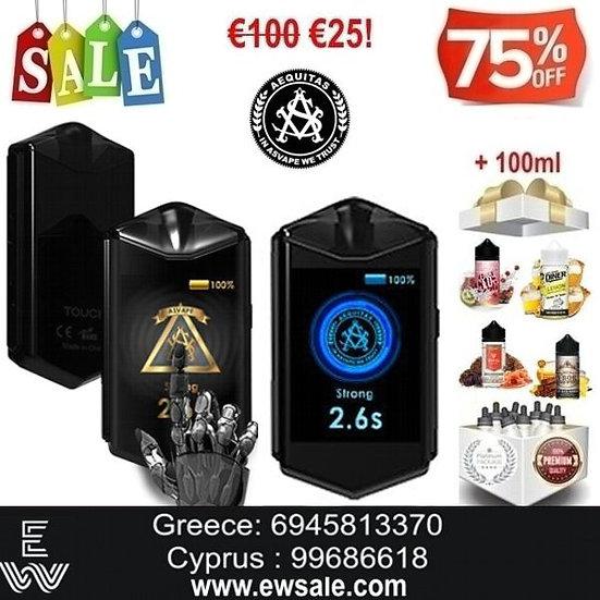 1+1 (2) Asvape Touch ΑΦΗΣ Kit Ηλεκτρονικά Τσιγάρα + 100ml Υγρά άτμισης
