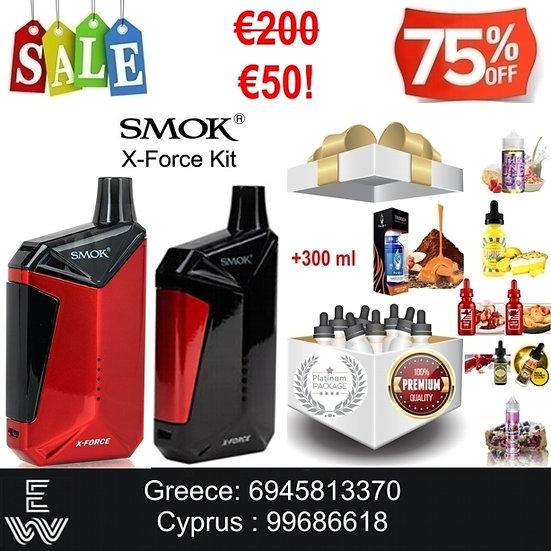 SMOK X-Force Kit + 300 ml Δημοφιλή Υγρά Αναπλήρωσης, άτμισης